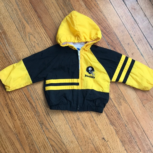 buy popular 5ffe4 c1637 3/$12♦️Steelers Toddler rain jacket.